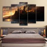 El castillo de Arte de lienzo de 5 piezas de arte de pared impresos Decoracion pintura lienzo Póster de la imagen se imprime