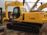 Excavador usado del excavador 22ton de la correa eslabonada de KOMATSU PC220-6