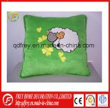 Heißer Verkaufs-Plüsch-weiches quadratisches Kissen mit Stickerei-Firmenzeichen