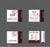 Protección del medio ambiente conveniente y, bolso de totalizador impreso de papel del texto del diseño