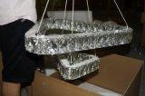 Cristal y luz pendiente inoxidable del acero LED (KA10183) de Porject del comedor