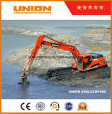 Doosan amphibischer ausbaggernder Exkavator mit Sand-Scherblock-Absaugung-Ausbaggernpumpe