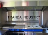 De grote Vrachtwagen van het Voedsel van de Bestelwagens van de Verkoop van het Voedsel van het Rundvlees van de Kar van het Voedsel Europese Standaard