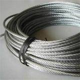 철강선 밧줄 강철 케이블 또는 스테인리스 철사 밧줄 8X7+1X19 직경 1.5mm