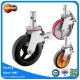 산업 강철 코어 비계를 위한 고무 피마자 바퀴