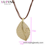De recentste Rhodium van Xuping van de Manier Dwars Ceramische Halsband van de Juwelen van de Diamant Zilveren in de Juwelen van het Roestvrij staal