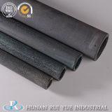 Tubo refractario de la protección del Sic del tubo del carburo de silicio del color negro gris