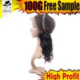 Perucas bonitas do laço para o cabelo humano das perucas cheias pequenas do laço de Perruque das cabeças