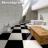 Azulejos de suelo de cerámica esmaltados mármol negro estupendo interior lleno del granito de la porcelana de la carrocería para la alameda de compras