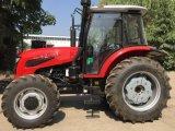 Precio barato de 100 CV Tractor agrícola HP 110LT1104 con pala cargadora