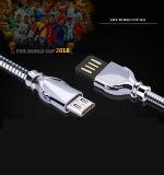Tipo-c in lega di zinco cavo del USB del micro del cavo del USB della tazza di mondo del telefono per la galassia S7 S8 di Samsung