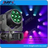Mini 7*15 vatios de lavado de LED moviendo la cabeza de las luces de escenario (BR-715P)