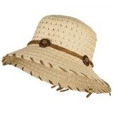 China la moda de la mujer de paja de hebilla de coco sombrero para el sol de la cuchara de papel