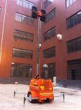 発電機の移動式照明タワーが付いている携帯用タワーライト