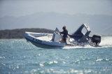Boot van de Glasvezel van de Boot van de Rib van de Sport van Liya 22feet de Stijve Opblaasbare