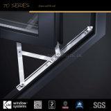 Ventanas de aluminio con el estándar de EU en perfiles de aluminio y accesorios de hardware