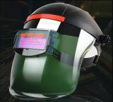 A energia solar escurecimento automático capacete de soldagem com grande sombra