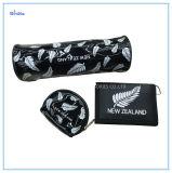 La Nouvelle-Zélande plein de lettres de l'impression Boucle Velcro Portefeuille en nylon noir