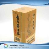 Vino de madera del tubo de embalaje de regalo/comida/vino caja de embalaje (xc hba-006)