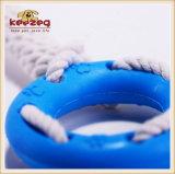 Corda del cotone di TPR con i giocattoli dell'animale domestico del pneumatico/giocattolo dentali del cane (KB1029)