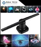 Versione di WiFi che fa pubblicità alla formazione immagine olografica del ventilatore 3D del LED 3D