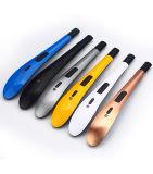 Pilha recarregável USB Eletrônico de metal Arco Único Acendedor churrascos