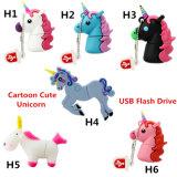 Мультфильм Cute Unicorn силиконового герметика флэш-накопитель USB