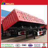 Side Wall Steel / Curtain Semi-remorque de camion en option