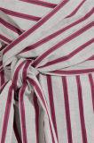Dongguan-Kleidungs-Fabrik-Binden-Vorderes gestreiftes Baumwollhemd-Kleid