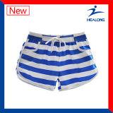 Shorts correnti all'ingrosso di disegno variopinto adatto del poliestere della tintura di Healong (mutanda funzionante)