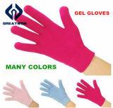 La cura di piede passa i guanti d'idratazione del gel della STAZIONE TERMALE delle barrette del gel della pelle di bellezza di cura con differenti colori, la mascherina della mano, mascherina del piede