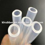Tressé transparent de qualité médicale tuyau flexible en silicone pour les équipements médicaux