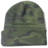 安い昇進の習慣によって刺繍される黒いアクリルの冬の帽子