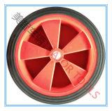 Fabrik verkaufen festes direkt Gummilaufkatze-Rad der hand10x2