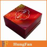 Impresión rígida de papel modificada para requisitos particulares del rectángulo de regalo/rectángulo de regalo de papel