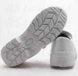 Chaussures résistantes chimiques blanches antistatiques d'entrave de sûreté de laboratoire (SNM5217)