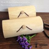 Casella di legno di Macaron della corteccia di Hongdao con Desing Logo_C
