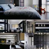 Positionnement de chambre à coucher en bois de meubles d'hôtel luxueux (EMT-SKA06)