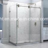 Receptáculo de ducha correderas de cristal con panel fijo