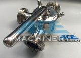 Válvula de conexão de rosca sanitária de 3 vias de aço inoxidável (ACE-XSF-A6)