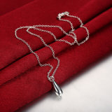 Zilver van de Halsband van de Tegenhanger van de Vorm van de Daling van de manier plateerde het Echte Zilveren Klassieke Halsband