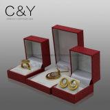 أحمر فاترة لؤلؤة ورقة مجوهرات هبة يعبّئ صندوق