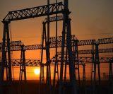 Fondamento della struttura d'acciaio della sottostazione del trasformatore