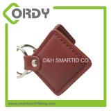 Including o anel 13.56MHz MIFARE 1K RFID de couro Fob chave de Keychain do metal para promoções