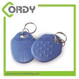 13.56MHz Hf MIFARE personalizado ABS 1k RFID Keychain