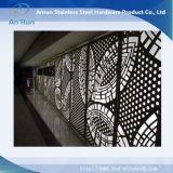Painel de curvatura perfurada de alumínio para cortina de parede