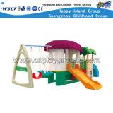 Petite glissière en plastique d'enfants de Playsets avec le matériel d'oscillation (HC-16508)