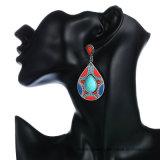 De kleurrijke Oorringen van de Daling van de Juwelen van de Legering van de Manier Boheemse 2 Kleuren