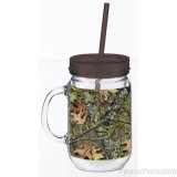 120 ml, 300 ml, 450 ml, 480 ml Mason Jar con tapa y paja