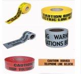 交通安全の黄色のプラスチックバリケードテープ